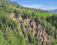 Loam Pyramids,Ritten,South Tyrol,Italy Royalty Free Stock Photos.