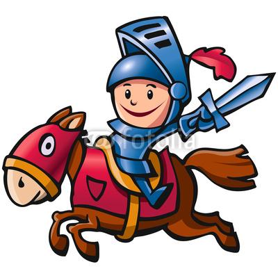 Ritter auf pferd clipart.