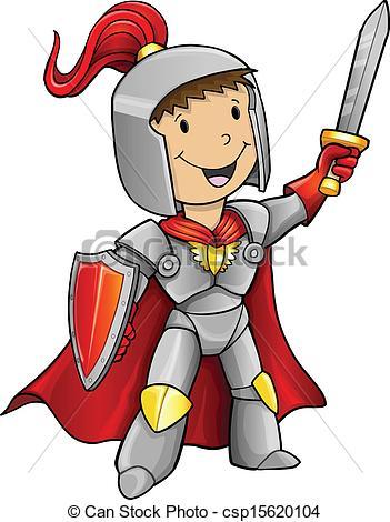 Vector Clipart of Hero Knight Vector Illustration csp15620104.