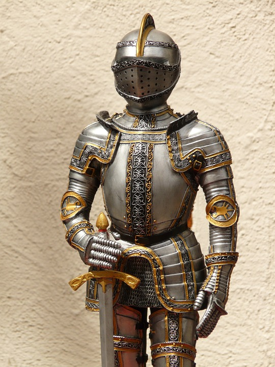 Free photo Middle Ages Metal Knight Armor Ritterruestung Old.