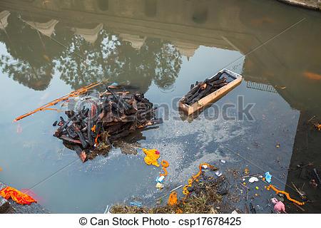Stock Photo of Bagmati River (Cremation ceremony) in Kathmandu.