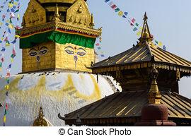 Stock Photos of Nepali religious ritual in Swayambhunath stupa.