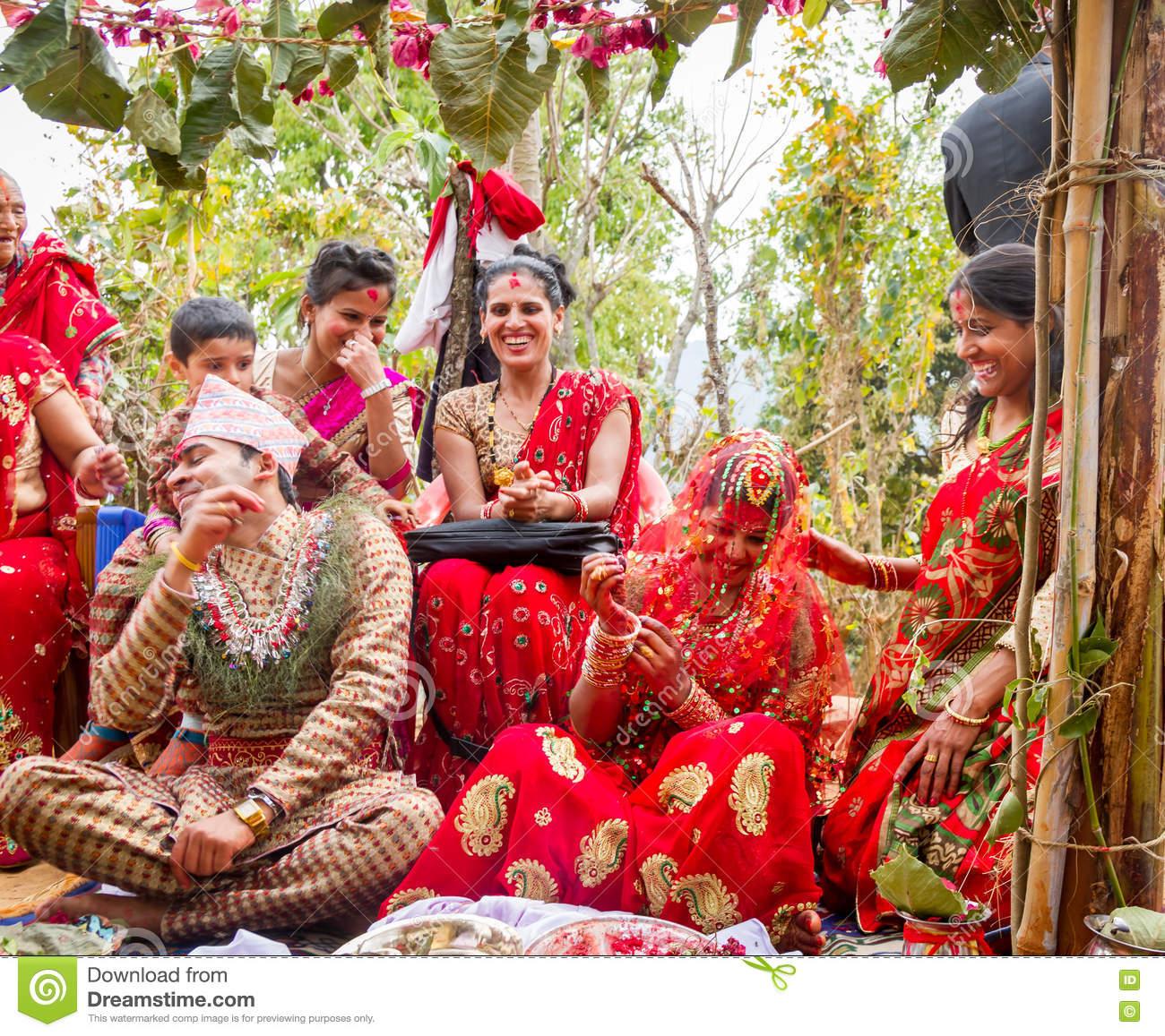Happy Moment Of Wedding Ceremony Editorial Stock Photo.