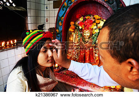 Picture of Thai woman prayer in god Nepal k21386967.