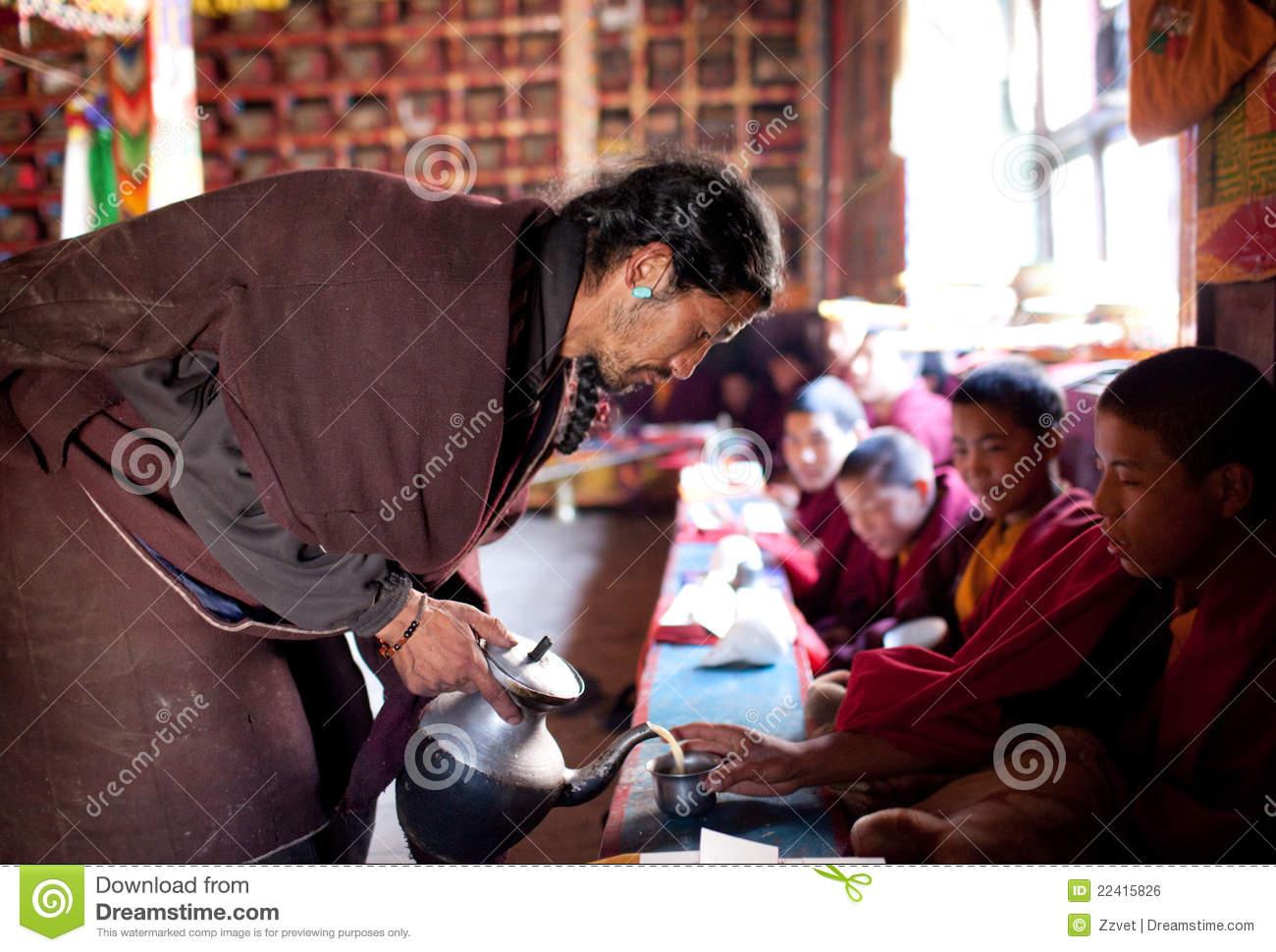 Tibetan Tea Ceremony, Nepal Editorial Photo.