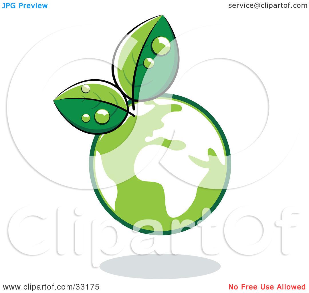 Green Globe Clipart.