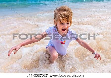 Picture of young girl on beach, Riu Palace, hotel, Punta Cana.