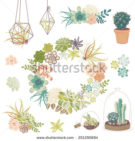 Succulent Clipart Stock Photos, Royalty.
