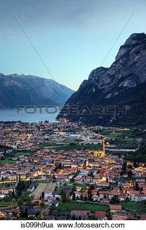 Stock Photography of Lake Garda, Riva, Veneto, Italy is099h9ua.