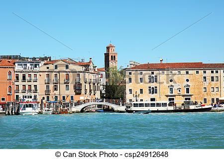 Stock Photo of Riva degli Schiavoni Venice Italy.