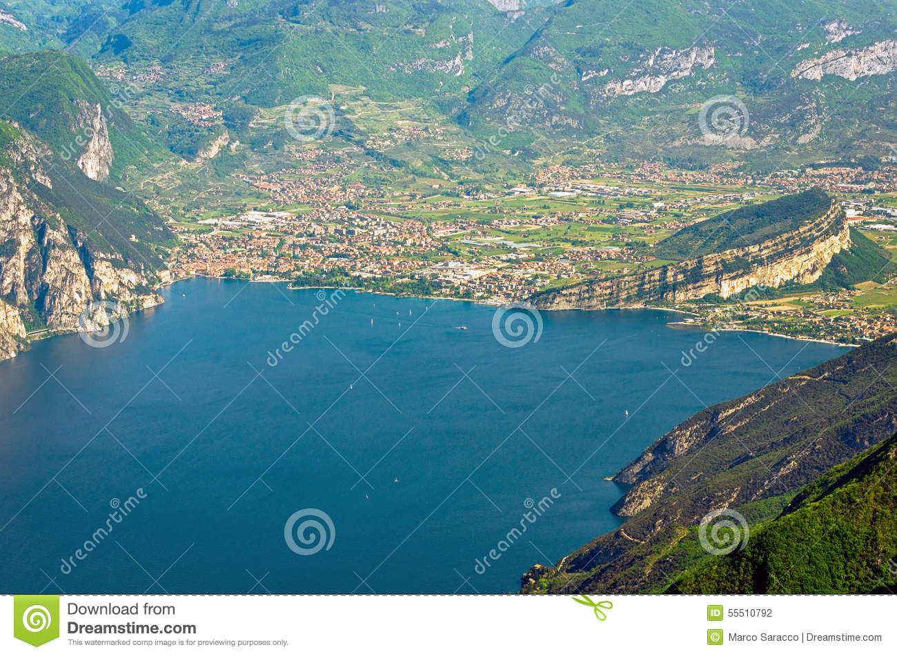 Lake Garda, Riva Del Garda Stock Photo.