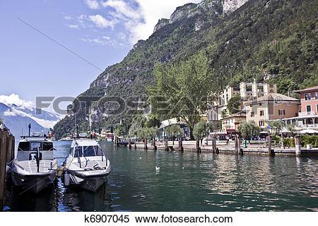 Stock Image of Riva del Garda city k6907045.