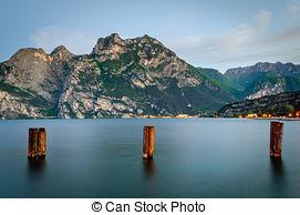 Stock Photography of Lake Garda, Town of Riva del Garda, Italy.
