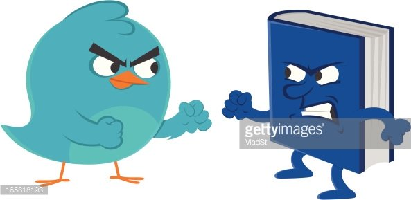 Social media rivalry Clipart Image.