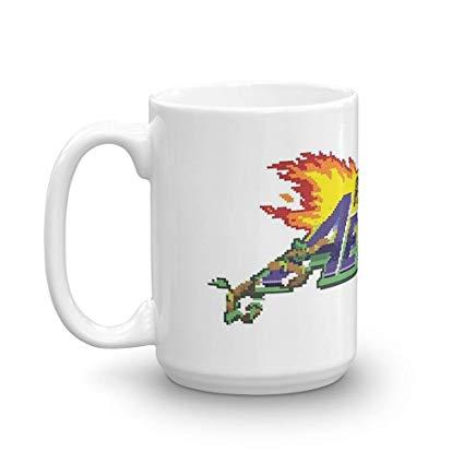 Amazon.com: Rivals of Aether Logo Pixel print. 15 Oz Ceramic.