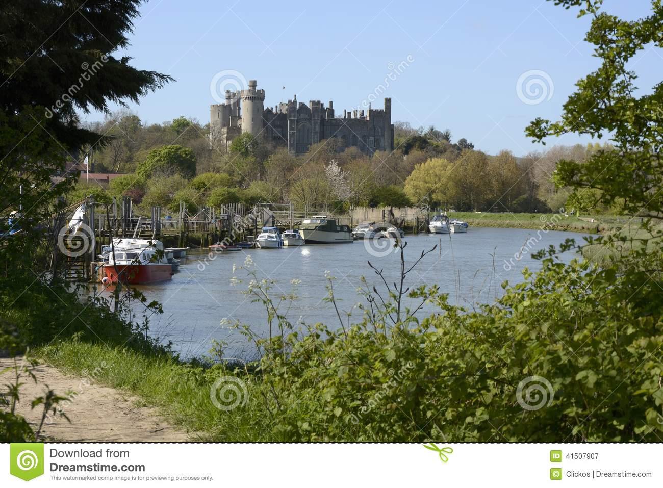 Arundel Castle And River Arun. Sussex. England Editorial.