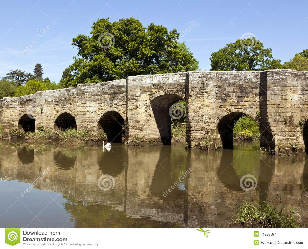 Stopham Bridge Near Pulborough, West Sussex Stock Photo.
