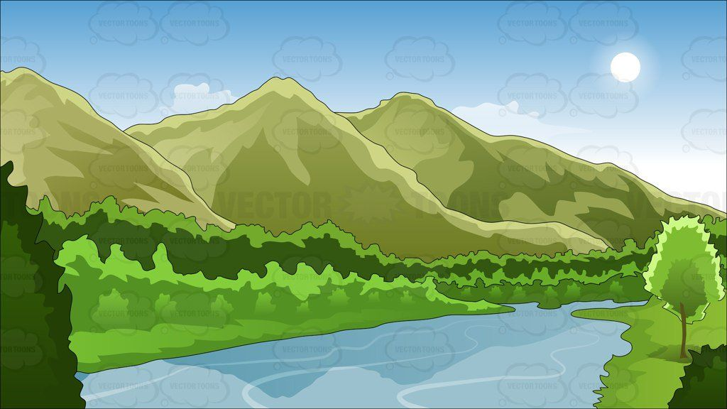 Mountains and river background 1.