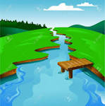 River banks clipart.