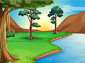 Royalty Free River Clip Art.