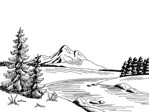 Free Black And White River Clipart, Download Free Clip Art.