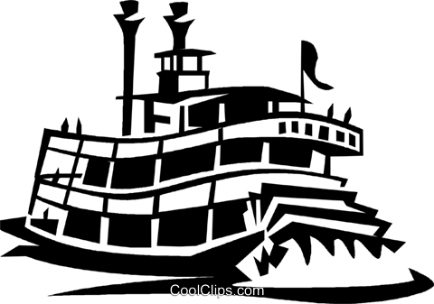 riverboats Royalty Free Vector Clip Art illustration.