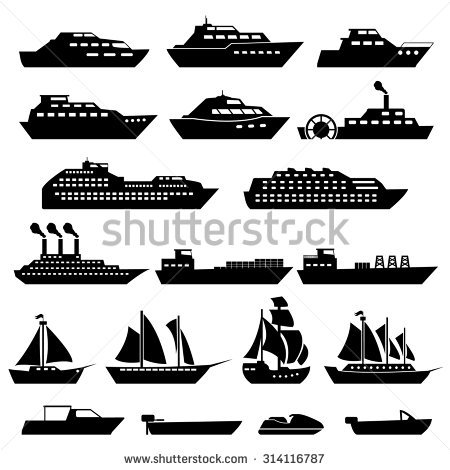 River barge clipart.