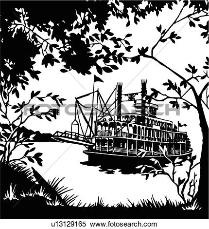 River boats clipart #17