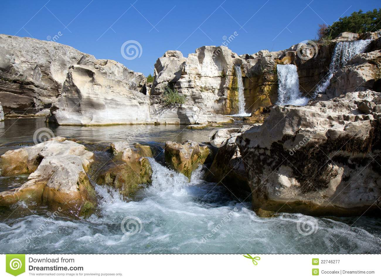 Sautadets Waterfalls On The Ceze River Royalty Free Stock.