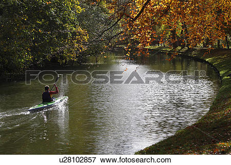 Picture of England, Oxfordshire, Oxford, Canoeing on the River.