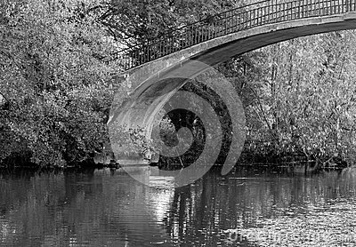High Bridge Over River Cherwell, Oxford Royalty Free Stock Images.