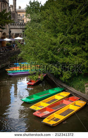 Oxford Punting Stock Photos, Royalty.