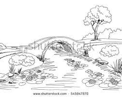 Image result for river black and white clipart.