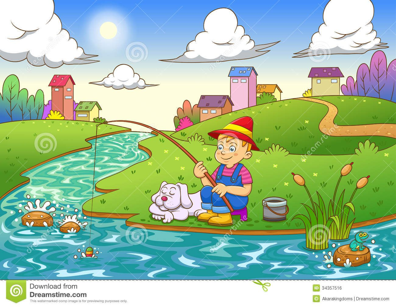 fishing river clipart.