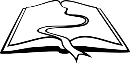 Flowing river outline clipart.
