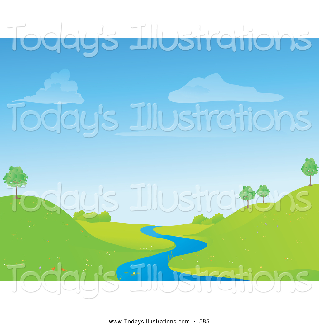 Royalty Free Stock New Designs of Landscapes.