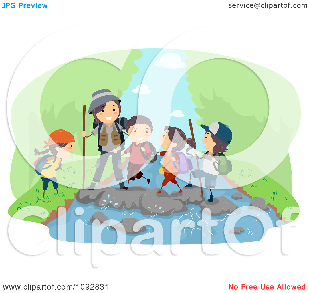 River Crossing Clipart