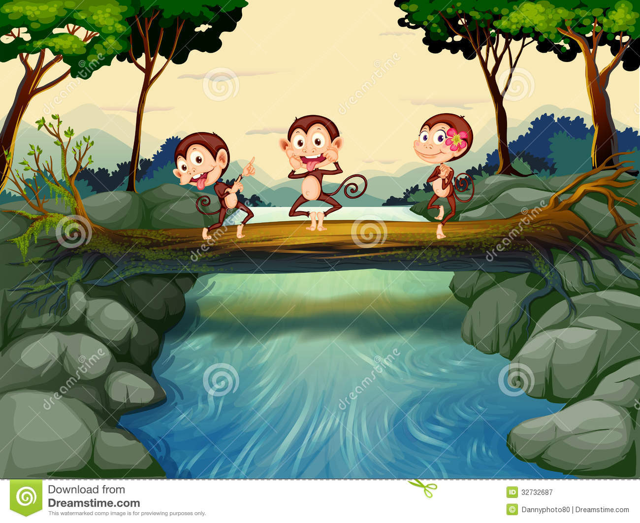 Three River Clipart.
