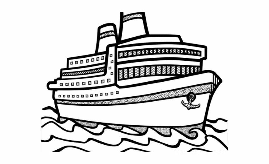 Cruise Ship Clipart Outline.