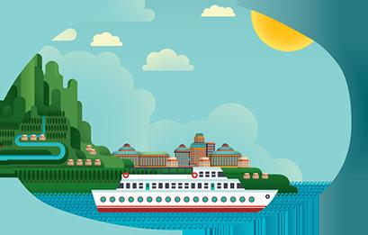 Cruise clipart river cruise, Cruise river cruise Transparent.