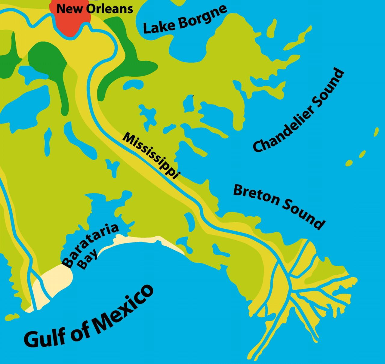 River delta clipart.