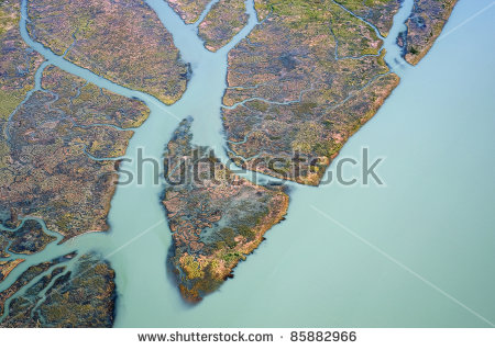 River Delta Stock Images, Royalty.