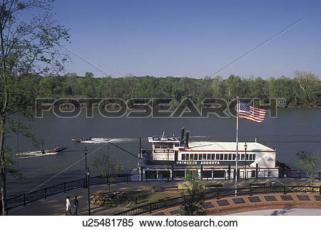 Stock Image of steam boat, Augusta, GA, Georgia, Princess Augusta.