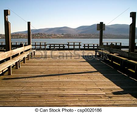 Stock Image of Dock on the River.