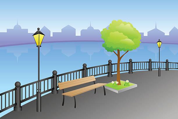 River Embankment Clip Art, Vector Images & Illustrations.