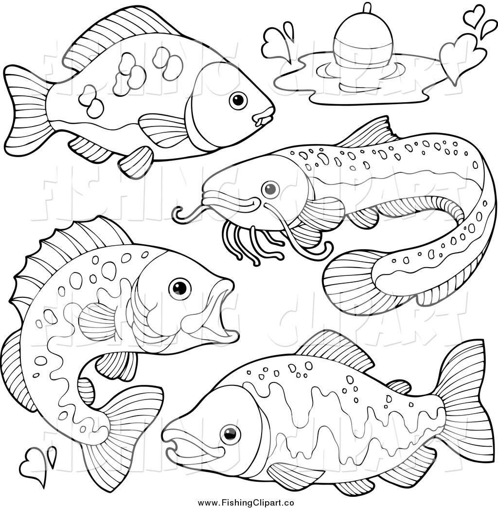 Freshwater fish clipart - River Fishing Clipart Clipground