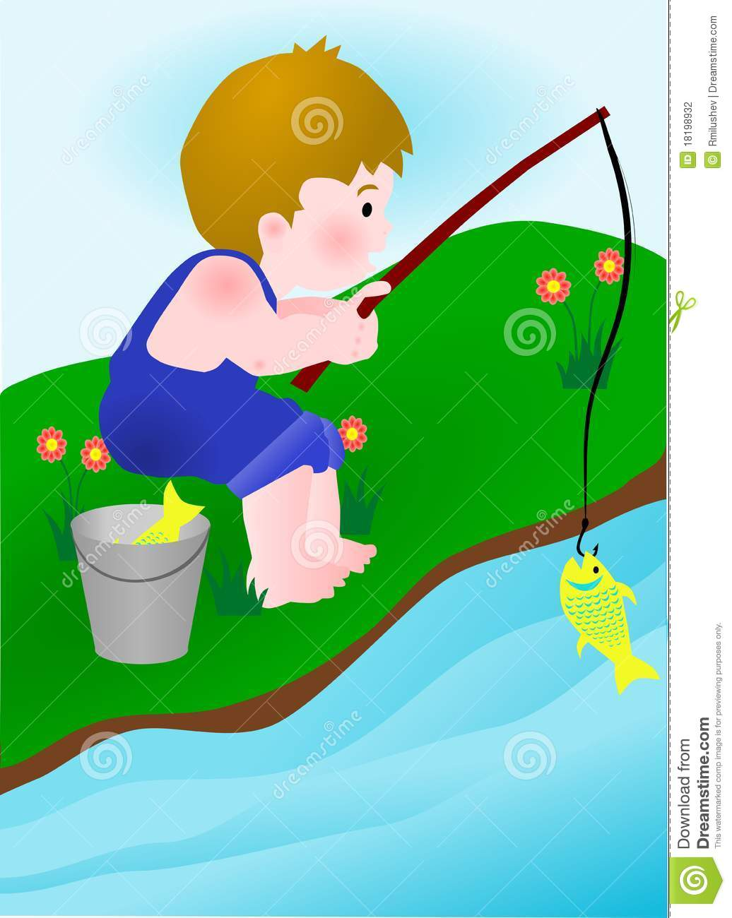 River fishing clipart - Clipground