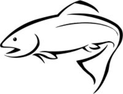 River Fishing Clip Art.