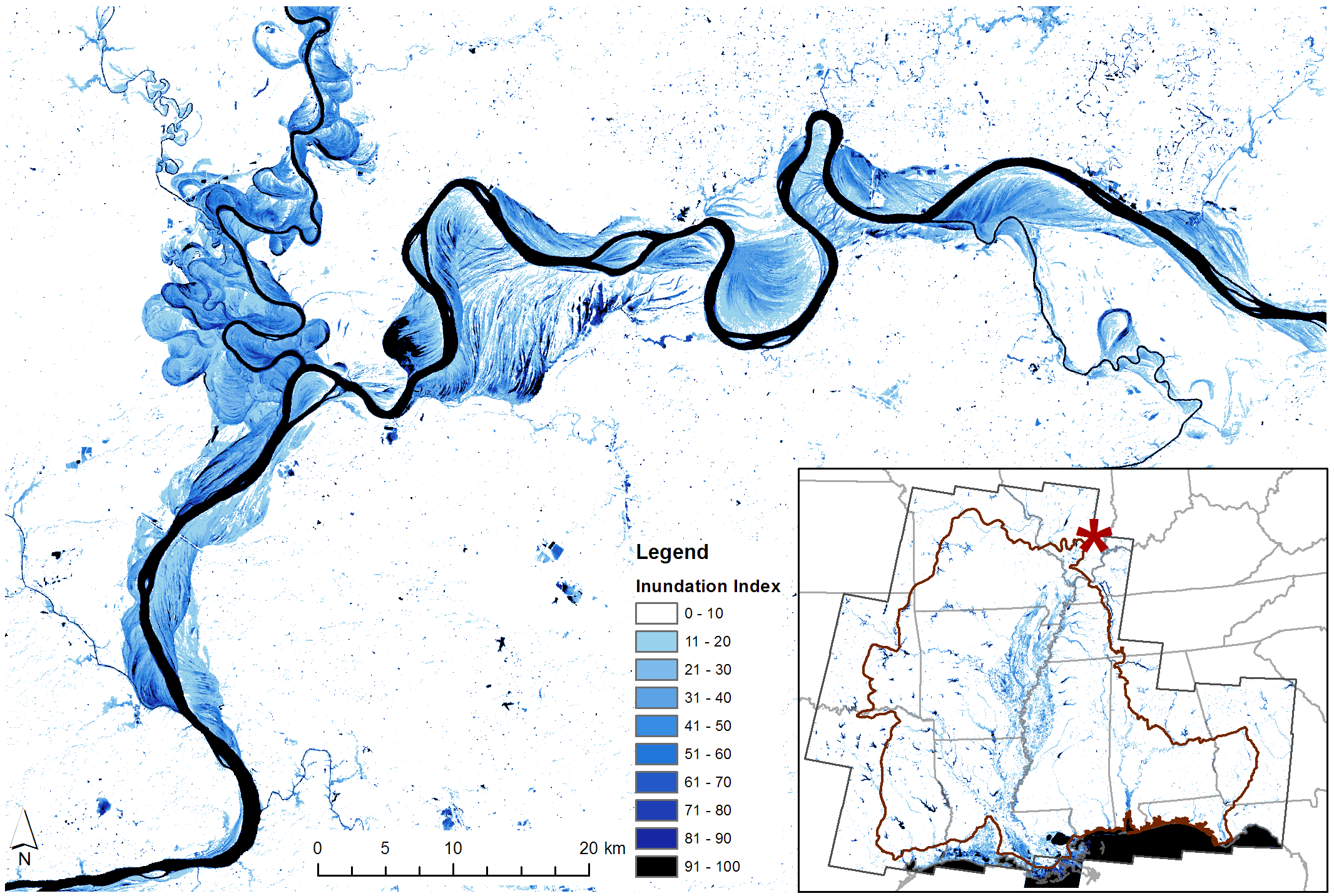Assessment of Floodplain Inundation Frequency in the Gulf Coastal.