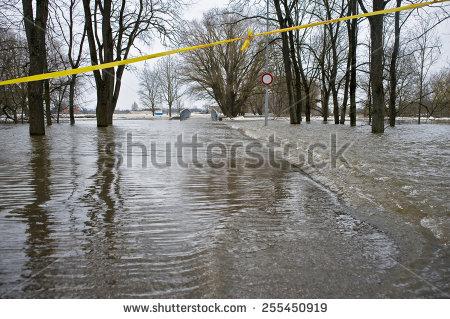 Flood River Stock Photos, Royalty.
